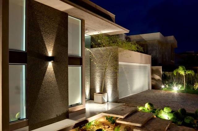Fachada on pinterest modern front door contemporary - Imagenes de interiores de casas modernas ...