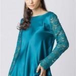 blusa de cetim azul
