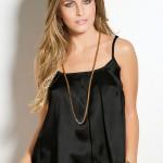 blusa de cetim preta