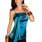 modelos de blusas de cetim