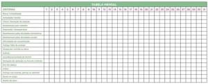 Tabela Menstrual 2013 para imprimir - 3