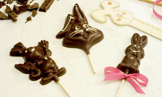 Como fazer sobremesas fáceis para a Páscoa - pirulitos de chocolate decorados