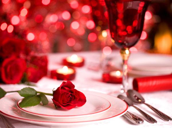 Jantar a dois romântico