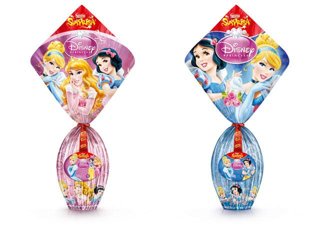 Ovos de Páscoa com surpresas dentro - princesas Nestlé