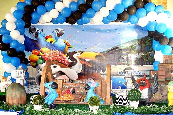 decoração do filme rio 2