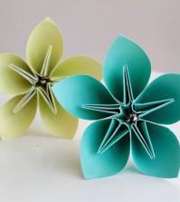 flor de papel elegante