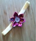 Flor de fuxico passo 12