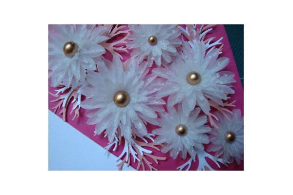 Artesanal Garrafas De Vidro ~ Flor de papel vegetal passo a passo