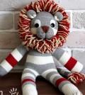 Leão feito de meia