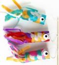 Peixe de rolo de papel higiênico passo a passo