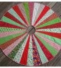 Saia decorada em patchwork
