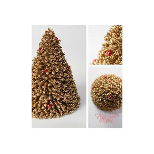 decoracao arvore de natal passo a passo:Árvore de Natal feita de macarrão passo a passo – Vale o Clique!