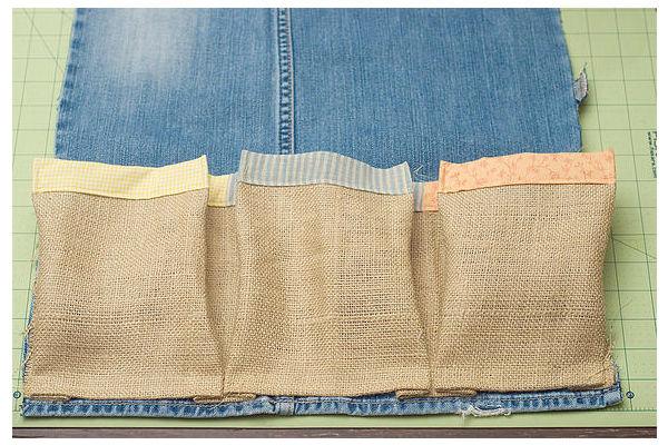 Aparador Extensivel Kane ~ Artesanato com jeans usado simples de fazer