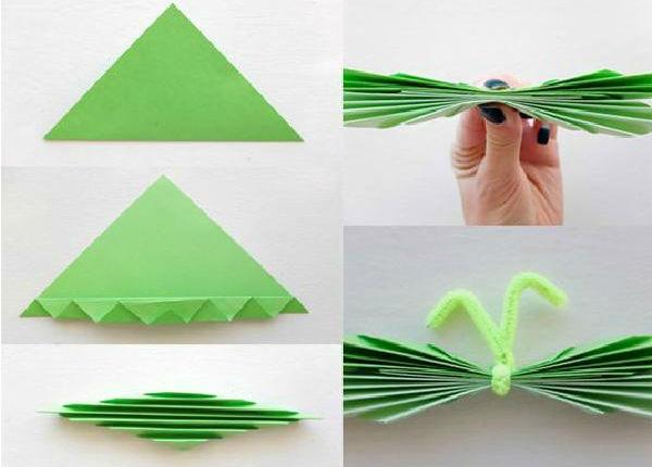 como fazer uma borboleta de papel bem simples
