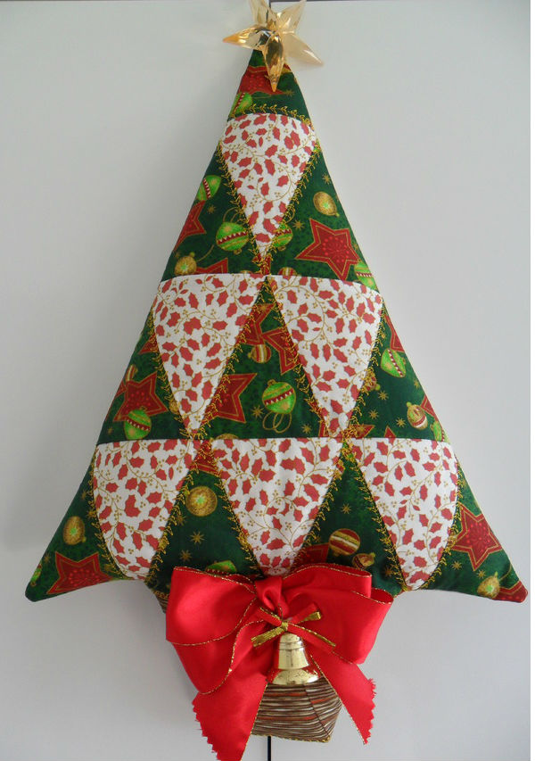 Armario Oficina Puerta Persiana ~ Ideias de artesanatos em tecido para o Natal 2016
