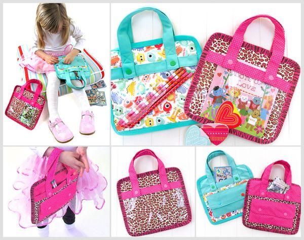 Invista em muitas desta bolsinha para crianças, para todas as ocasiões (Foto: sew4home.com)