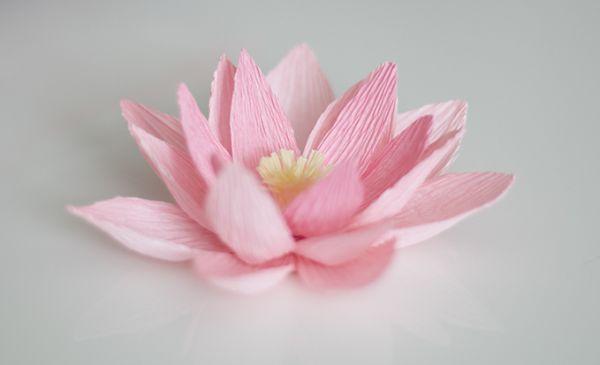 Lírio de água papel crepom é lindo e sempre faz o maior sucesso em qualquer lugar (Foto: ashandcrafts.com)