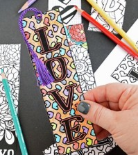 Marcadores de Página para Imprimir e Colorir