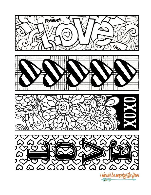 Você vai querer fazer todos estes marcadores de página para imprimir e colorir (Foto: ishouldbemoppingthefloor.com)