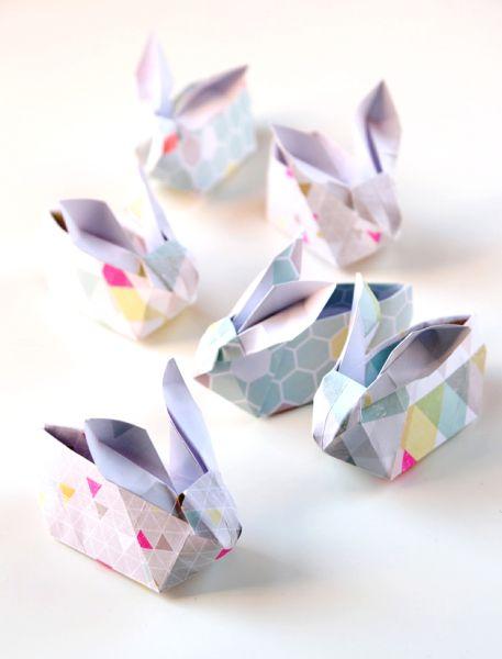 Minicestinha de Páscoa de origami é linda e fofa (Foto: gatheringbeauty.com)