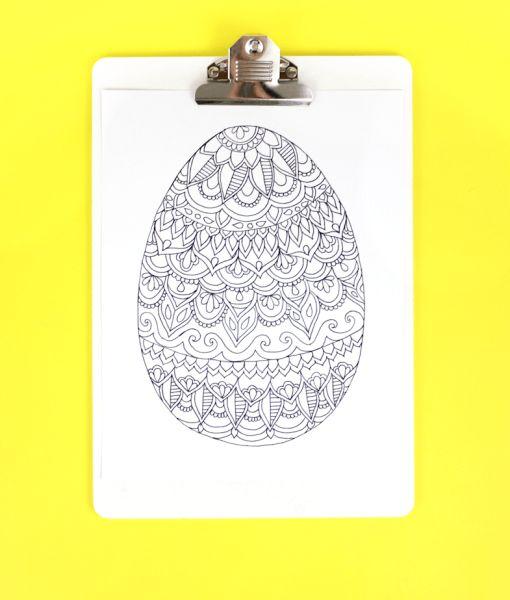 Providencie já o molde de ovo de Páscoa para imprimir e colorir (Foto: linesacross.com)
