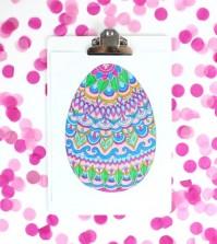 Molde de Ovo de Páscoa para Imprimir e Colorir    3