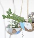 Esta ideia barata para fazer um suporte para plantas é também linda e interessante (Foto: poppytalk.com)