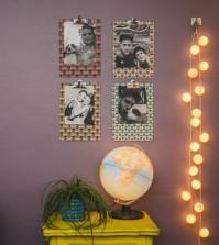 Este mural de fotos fácil de fazer é lindo e barato (Foto: casadecolorir.com.br)