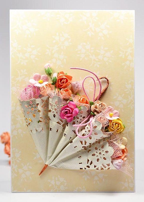 Decoração com doilies de papel é linda e diferenciada (Foto: fabartdiy.com)