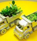 Artesanato com carrinho de plástico é lindo e diferente (Foto: casadecolorir.com.br)