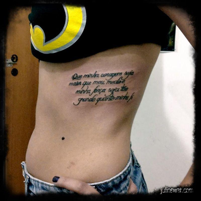 Frases Para Tatuagem Na Costela Feminina 4 Vale O Clique