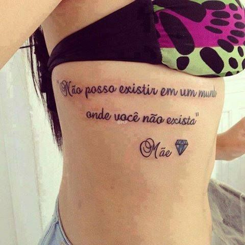 Frases Para Tatuagem Na Costela Feminina 5 Vale O Clique