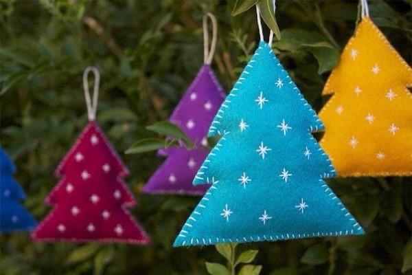 artesanatos natalinos com feltro