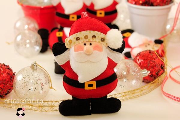 artesanatos com feltro para o natal