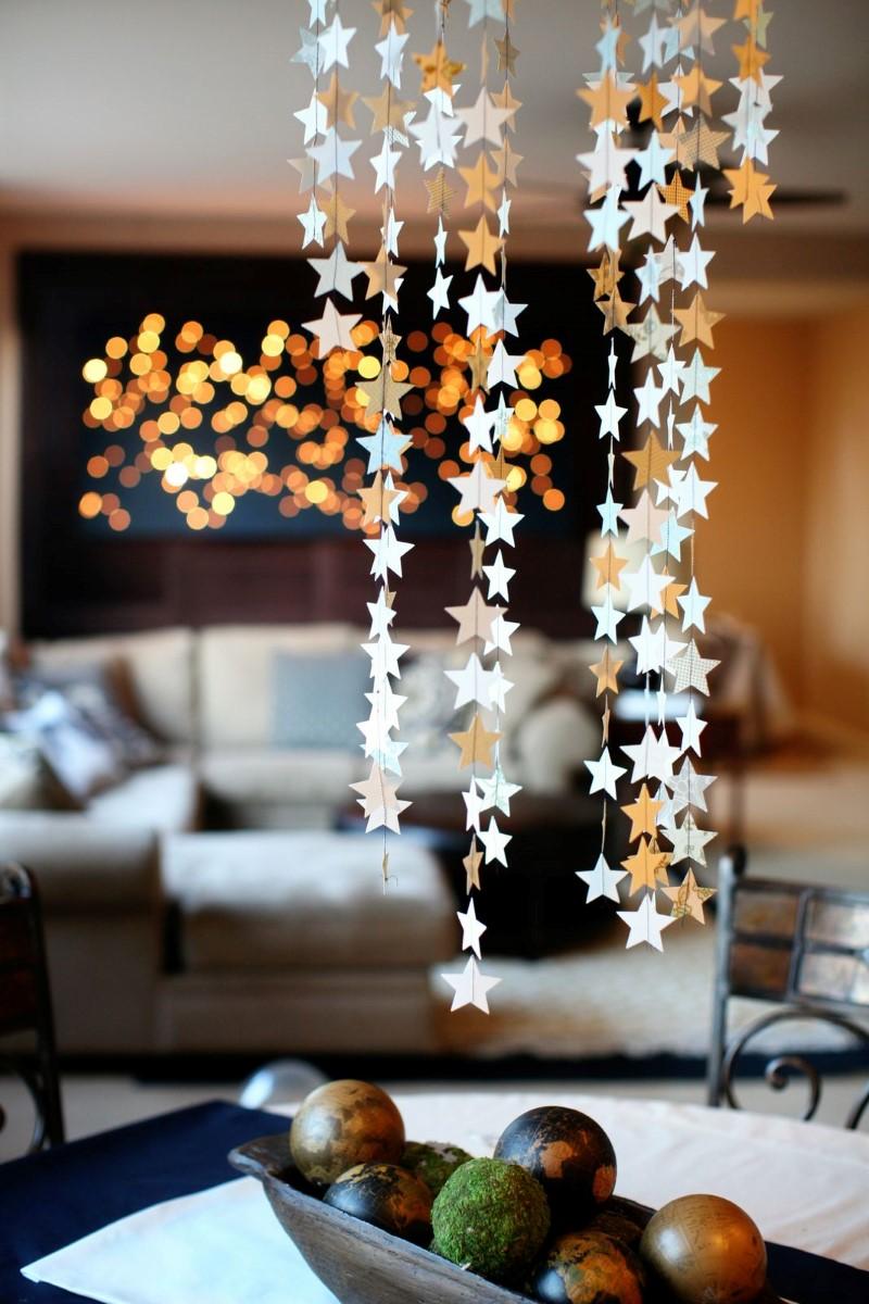 decoração simples de ano novo