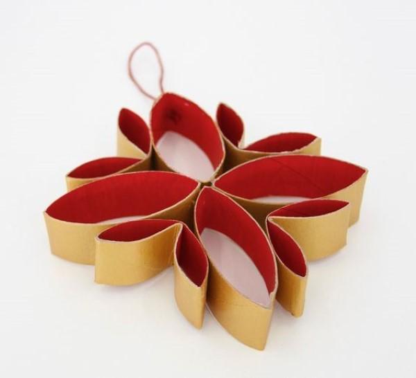 24 ideias de enfeites de Natal com rolo de papel higi u00eanico