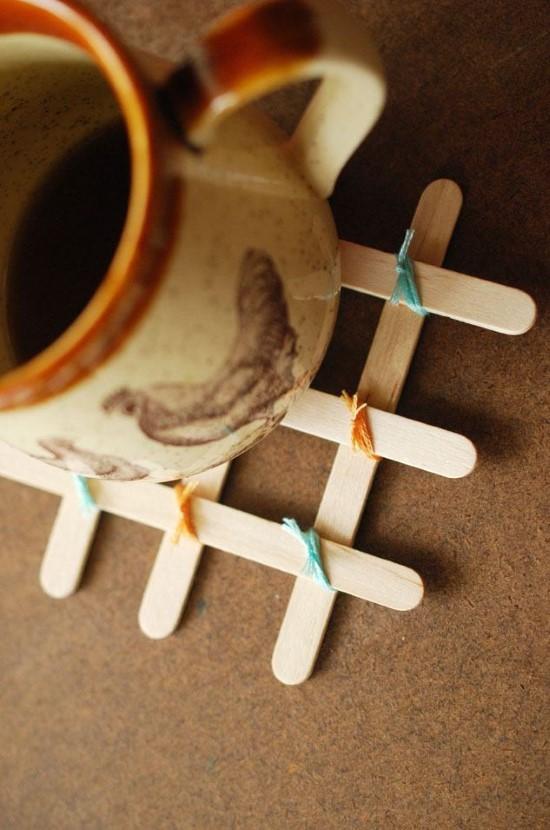 artesanatos com palitos de picole