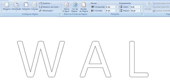 letras de EVA passo a passo