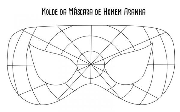 molde mascara homem aranha