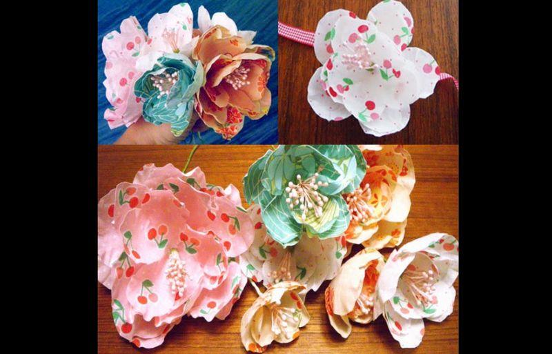 flores com tecido simples