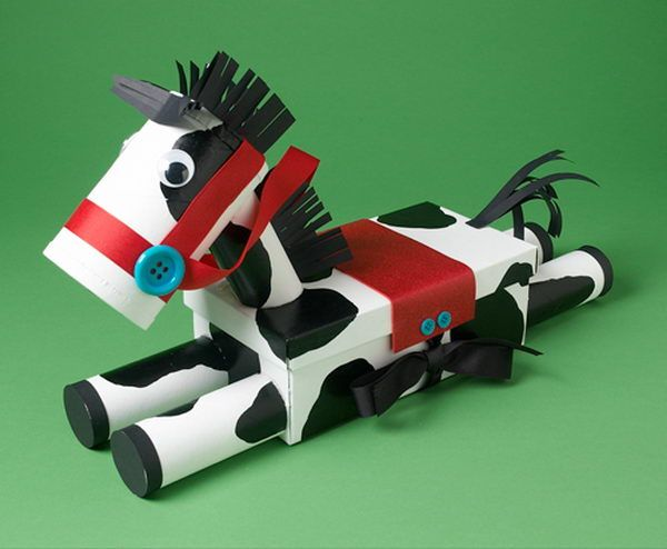 cavalo de caixa de leite