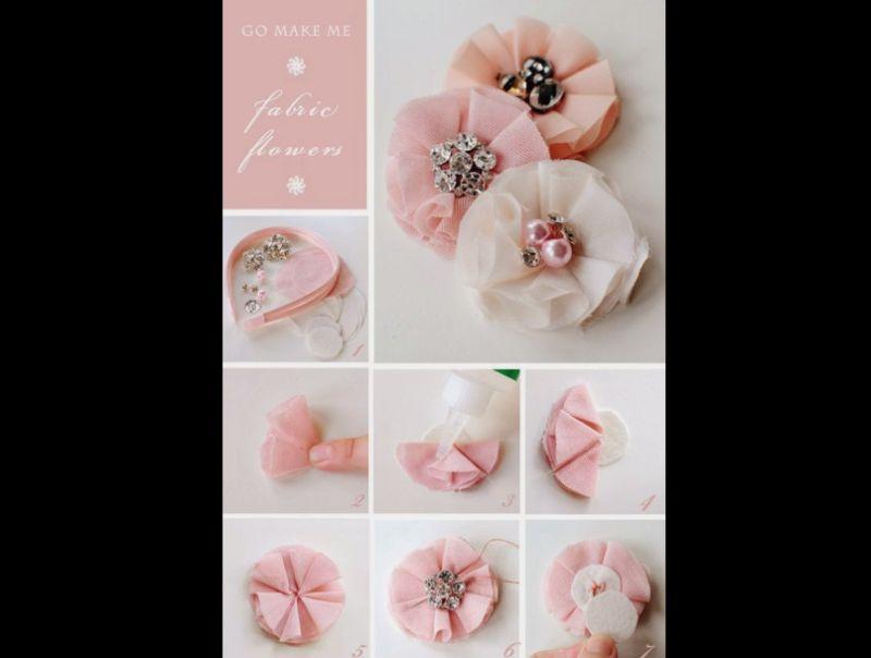 flores com tecido chiques