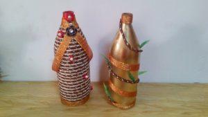 garrafa de vidro decorada
