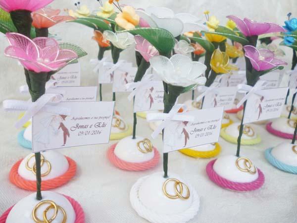 lembrança de casamento flor