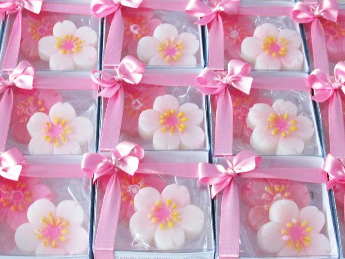 sabonete caseiro de flor