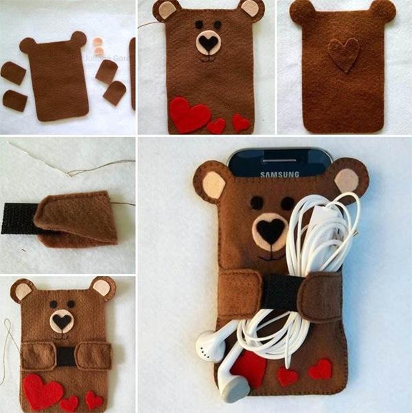 case de celular urso