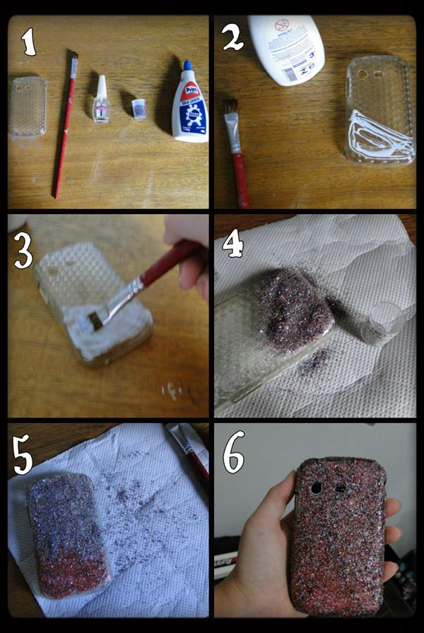 case de celular glitter