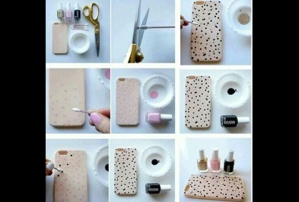 case de celular pintado