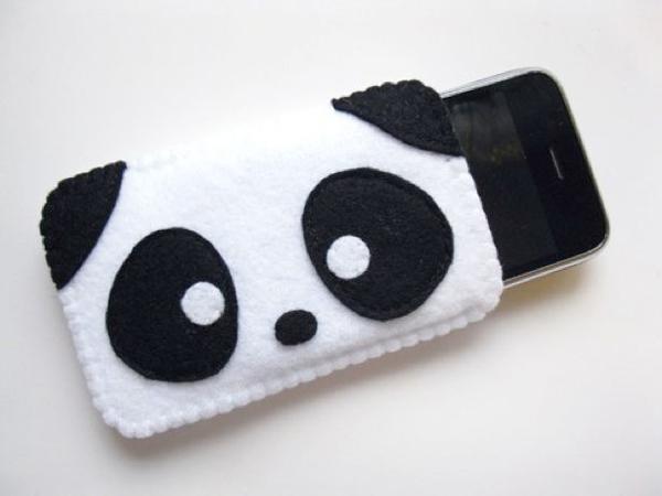case de celular panda
