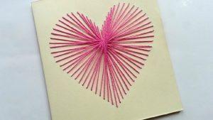 artesanato com linha cartão